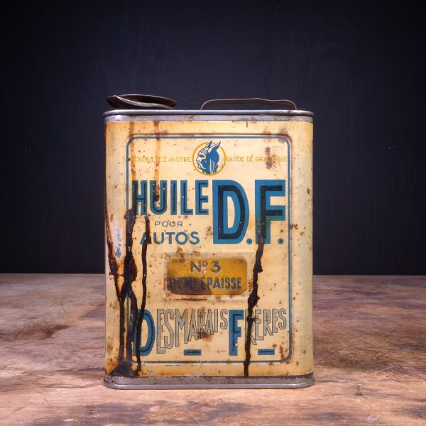 1930 Huile DF Motor Oil Can