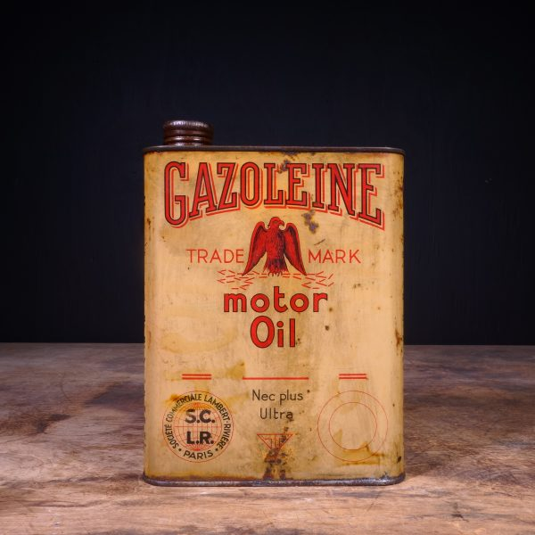 1930 Gazoleine Motor Oil Can