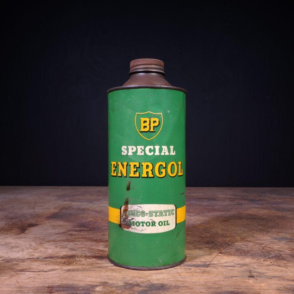 Alte Blech Öldose 2 Liter BP ENERGOL MOTOR OIL