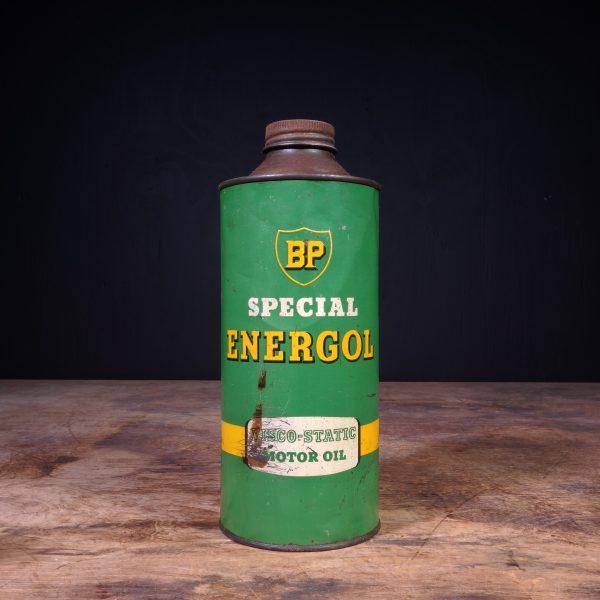 1950 BP Energol Viscol Static Motor Oil Can