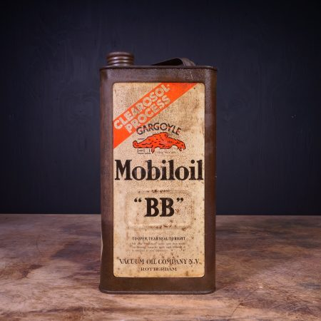 1930 Gargoyle Mobiloil BB Motor Oil Can