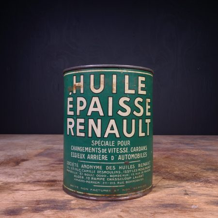 1940 Huile Epaisse Renault Graisse Grease Can