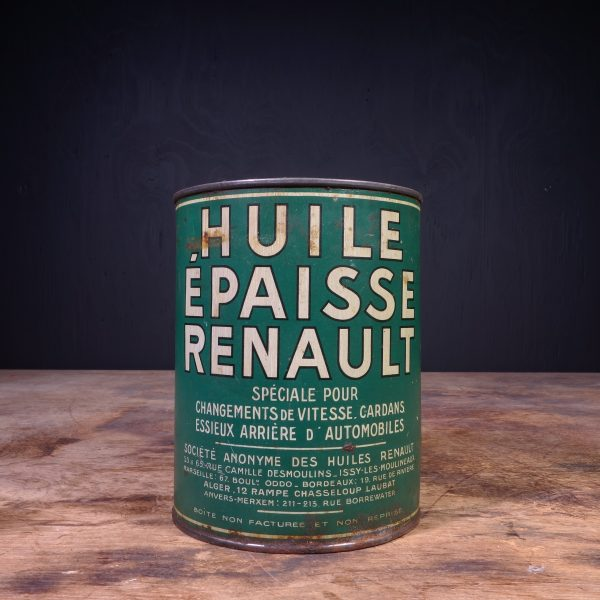 1940 Huile Epaisse Renault Graisse Grease Can