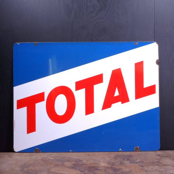 1960 Total Enamel Sign