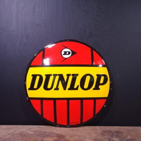 1950 Dunlop Enamel Sign