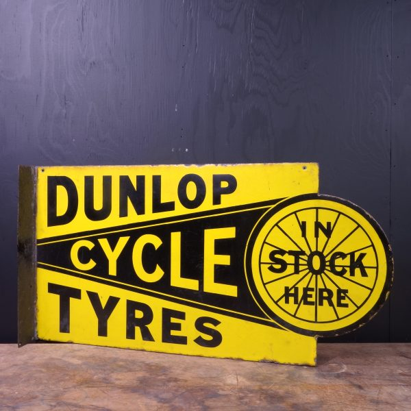 1920 Dunlop Cycle Tyres Flange Sign