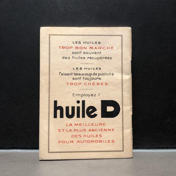 1930 Huile D Notebook