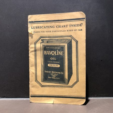 1930 Havoline Oil Notebook