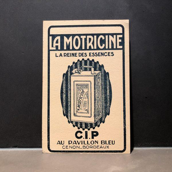 1930 CIP Motricine Promotional Card