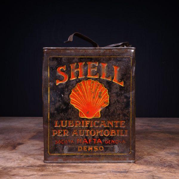 1920 Shell Lubrificante Per Automobili Motor Oil Can