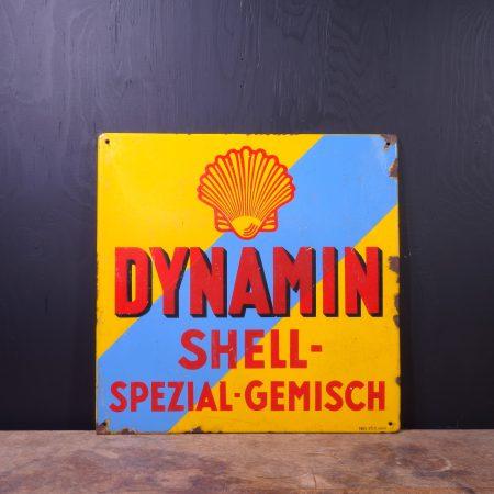 1930 Shell Dynamin Spezial Gemisch Sign