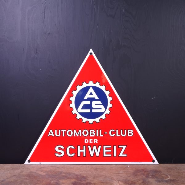 1950 Automobil Club der Schweiz Enamel Sign