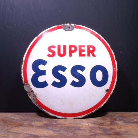 1938 Esso Super Enamel Sign