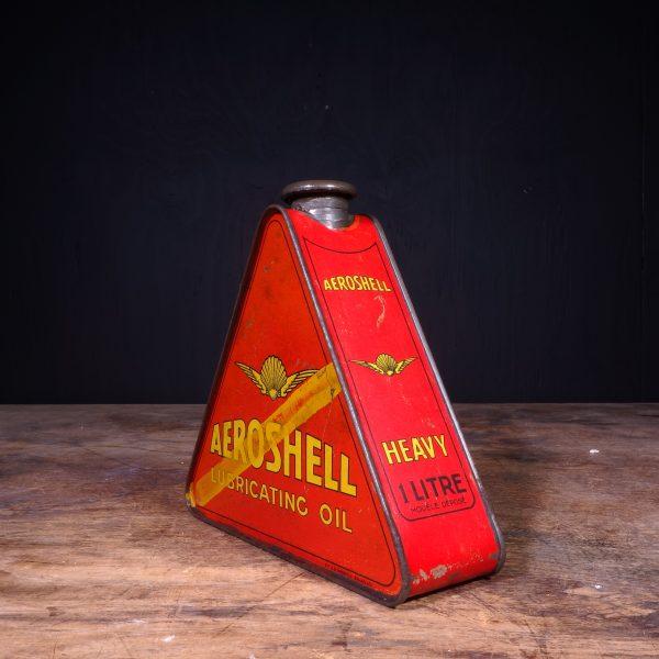 1930 Aeroshell Lubricating Motor Oil Can