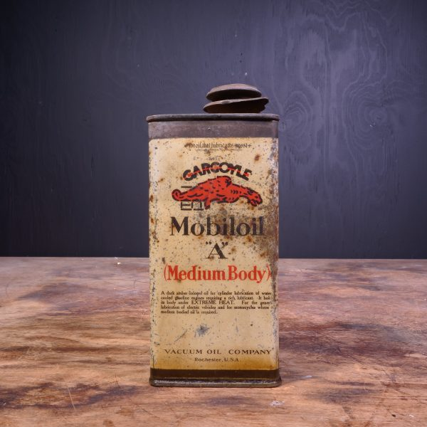 1920 Gargoyle Mobiloil A Medium Body Oil Can