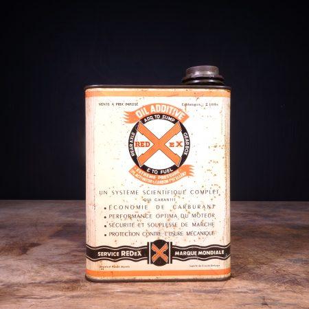 1940 Redex Additive Oil Can