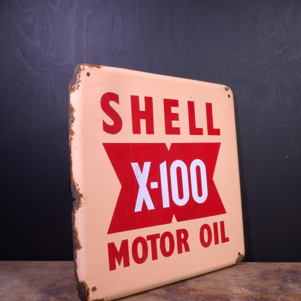 1950 Shell X-100 Sign