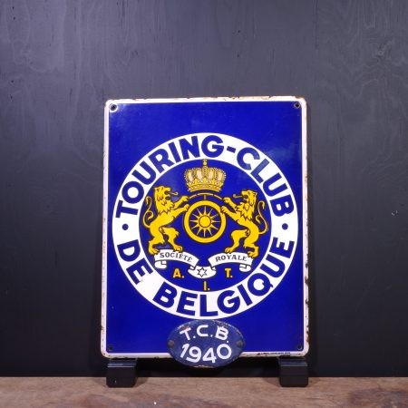 1940 Touring Club De Belgique Sign