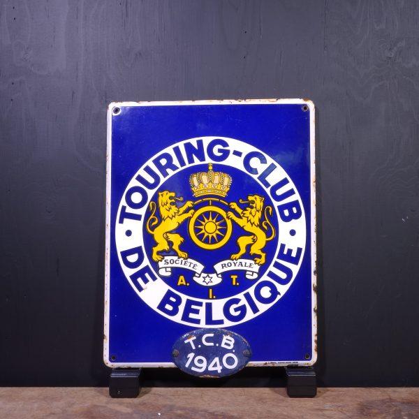 1940 Touring Club De Belgique Sign