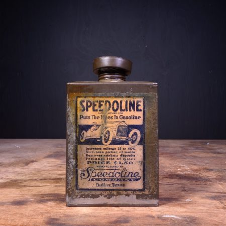 1920 Speedoline Motor Oil Can