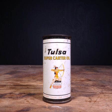 1950 Tulsa Super Carter Oil Can