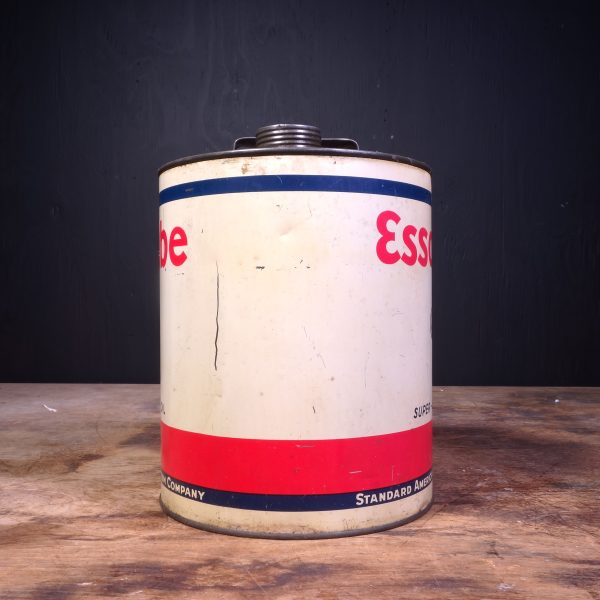 1940 Essolube Super Motor Oil Can