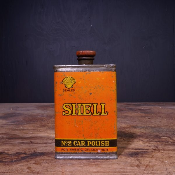 1920 Shell #2 Car Polish Can