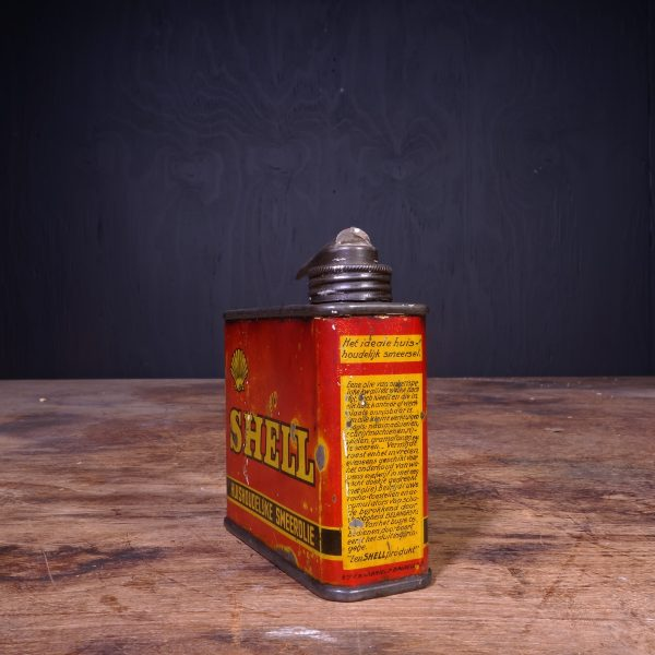 1920 Shell Domestique Household Oil Can