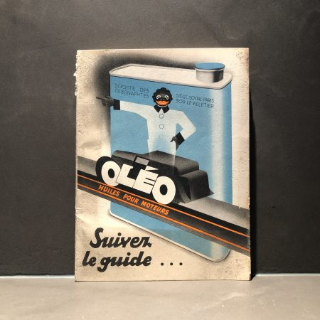 1930 Oleo Motor Oil Road Map Booklet