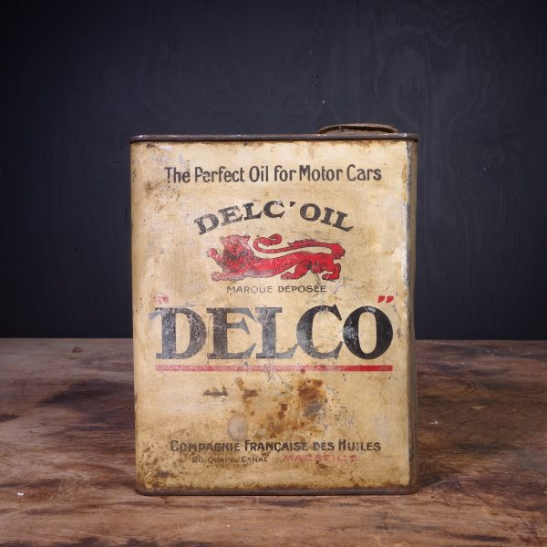 1930 Delco Oil Can