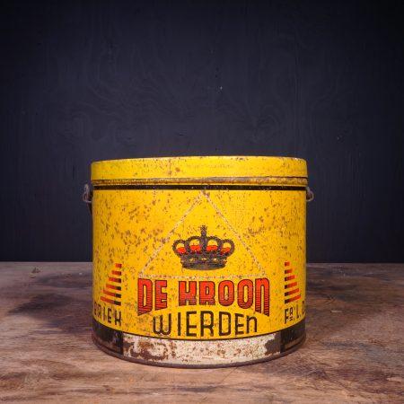 1950 De Kroon Grease Can