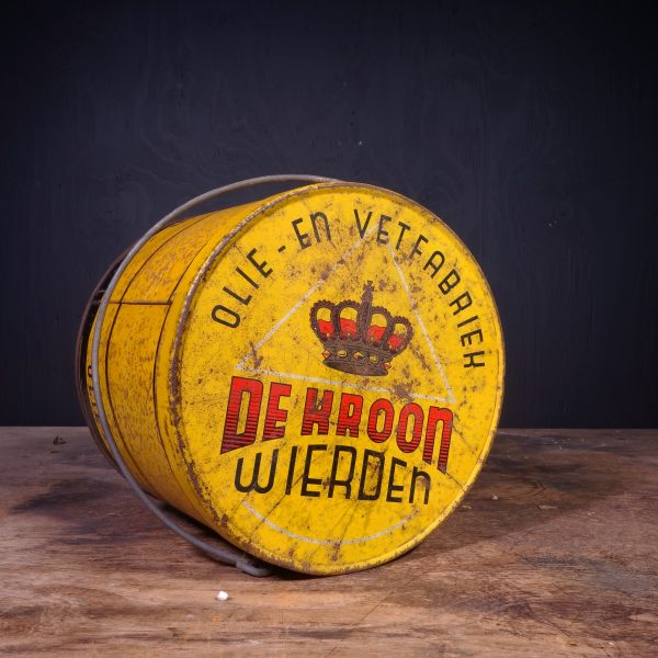 1950 De Kroon Grease Can