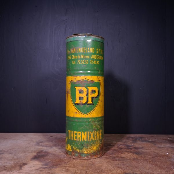 1940 BP Thermixine Fuel Oil Can
