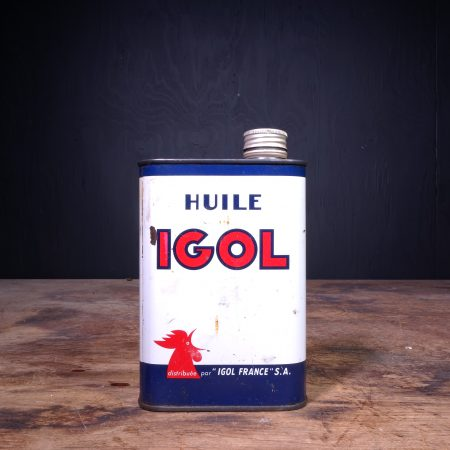 1950 Igol Huile Motor Oil Can