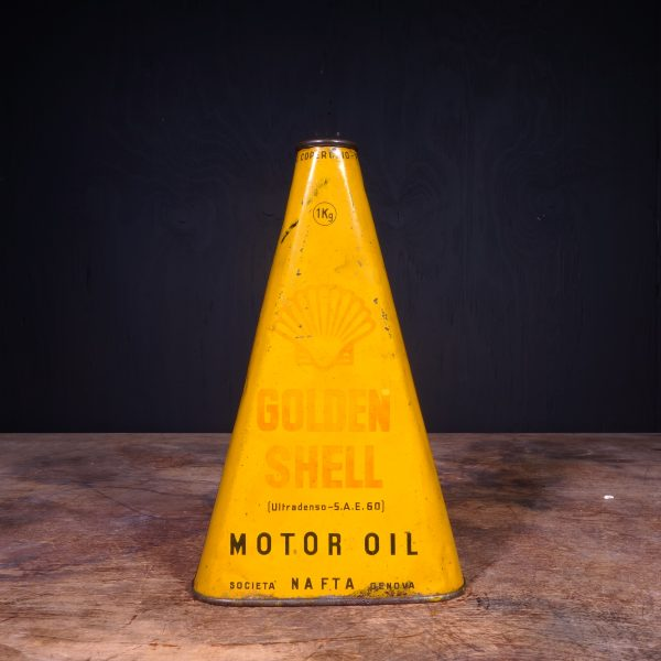 1930 Shell Golden Motor Oil Can
