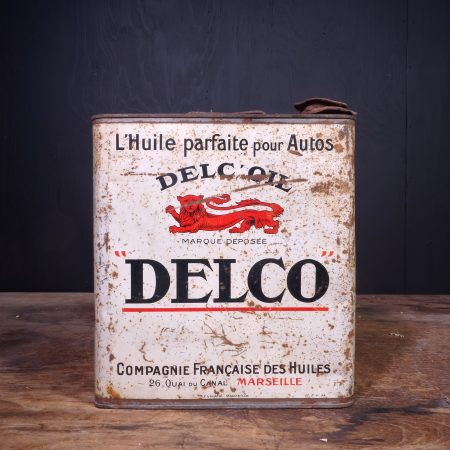 1930 Delco Oil Can