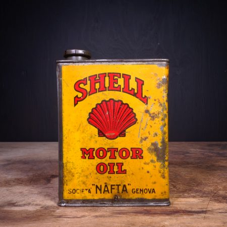 1930 Shell Triple Motor Oil Can