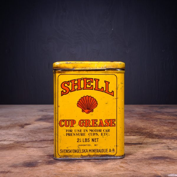 1930 Shell Cup Grease Can