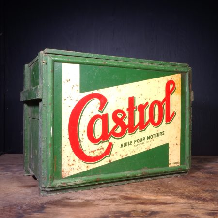 1940 Castrol Motor Oil Can Crate