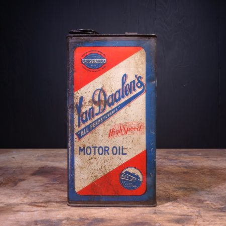 1950 Van Daalens Motor Oil Can