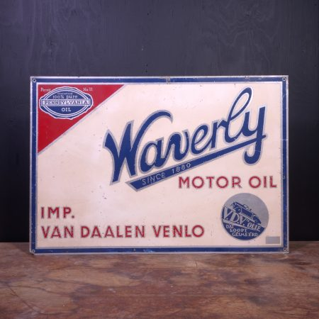 1950 Waverly Motor Oil Sign