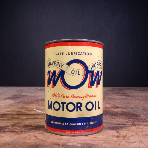 1930 Waverly Oil Works Motor Oil Can