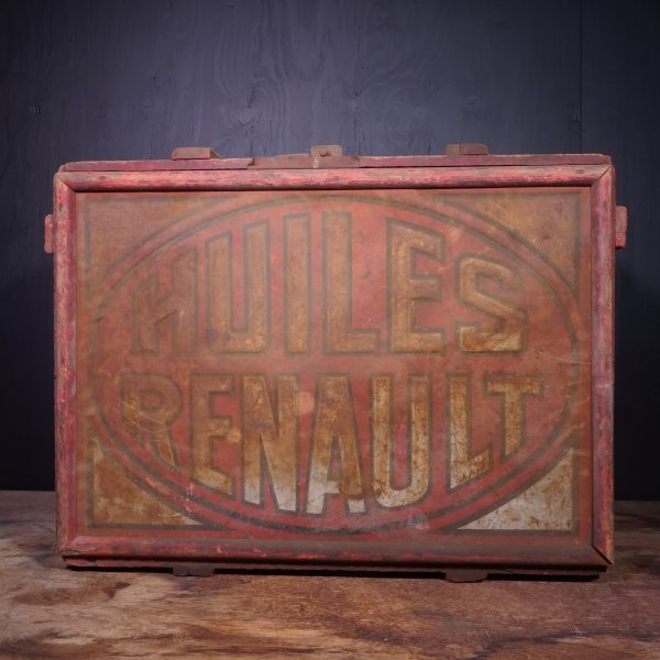 1930 Huile Renault Oil Can Crate