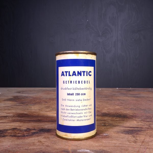 1950 Atlantic Getriebe Oel Oil Can