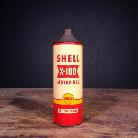 1950 Shell X-100 Motor Oel Oil Can