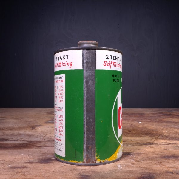 1950 Castrol 2 Takt 2 Temps Self Mixing Oil Can