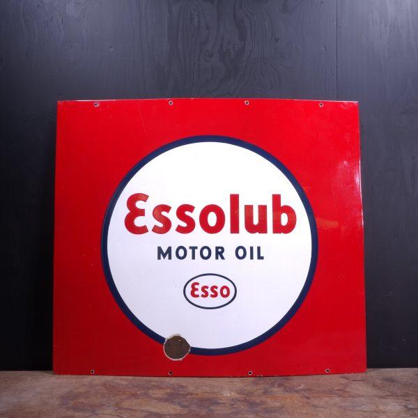 1940 Essolub Motor Oil Enamel Sign