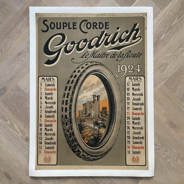 1924 Goodrich Affiche Poster