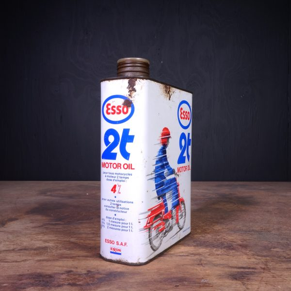 1970 Esso 2T Motor Oil Can