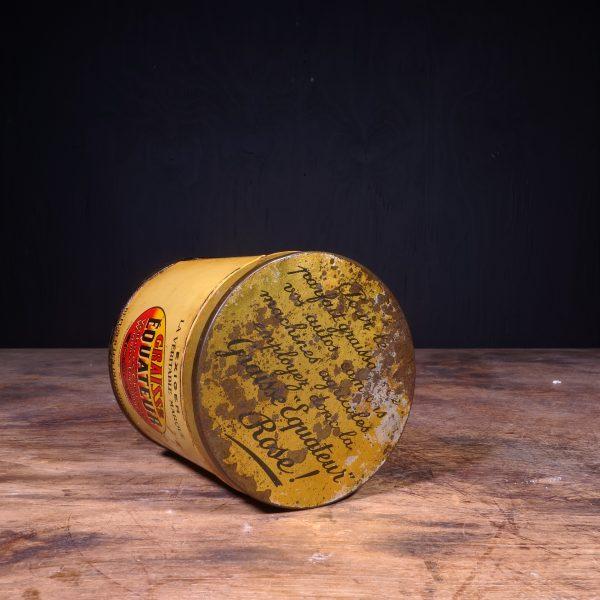 1930 Equateur Graisse Grease Can